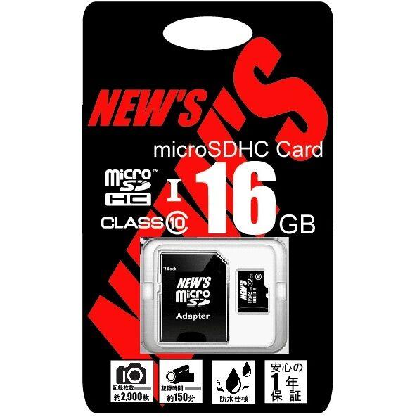 NEW'S microSDHC 16GB class10 UHS-1【7月上旬】_0