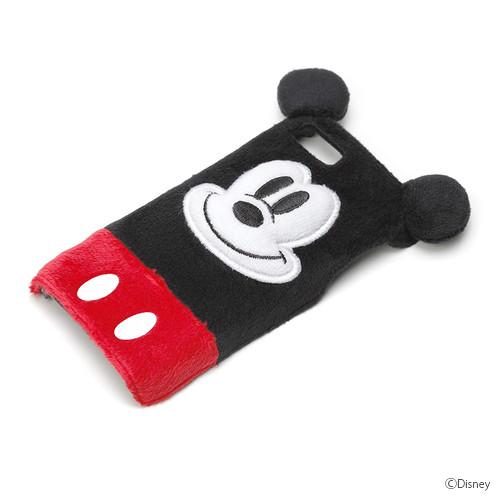 ディズニー iPhone SE/5s/5用ぬいぐるみケース ミッキーマウス