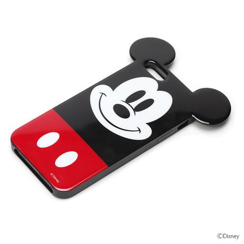 ディズニー iPhone SE/5s/5用TPUセミハードダイカットケース ミッキーマウス