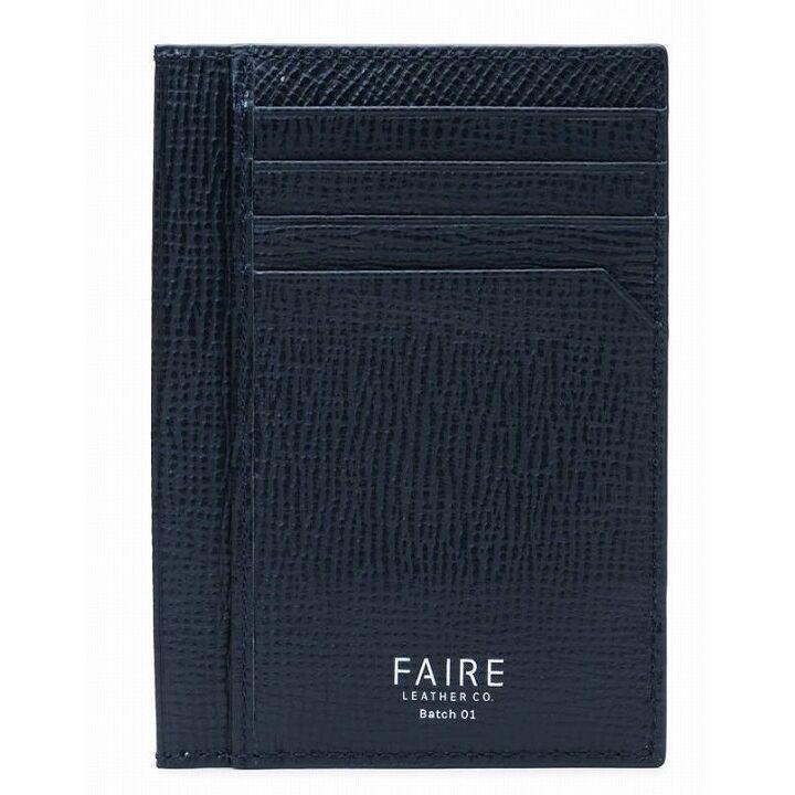 FAIRE  カードウォレット 型押し ネイビー_0