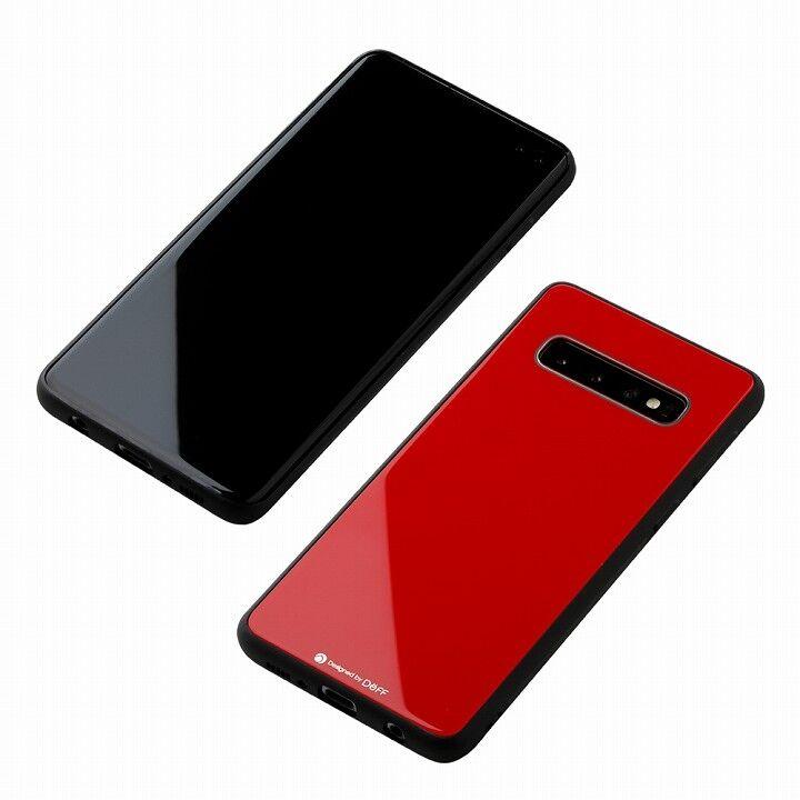 Hybrid Case Etanze for Galaxy S10プラス レッド_0