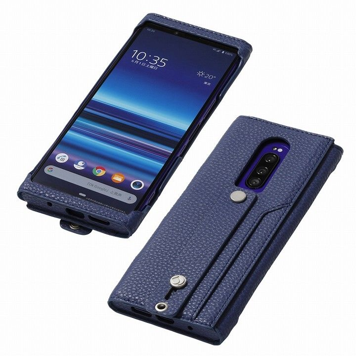 clings Slim Hand Strap Case for Xperia 1 ブルーバイオレット_0