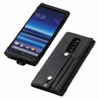 clings Slim Hand Strap Case for Xperia 1 ブラック