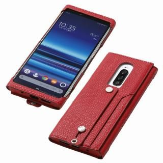 clings Slim Hand Strap Case for Xperia 1 レッド【4月中旬】