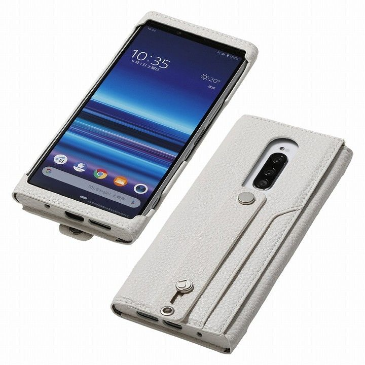 clings Slim Hand Strap Case for Xperia 1 ホワイト_0