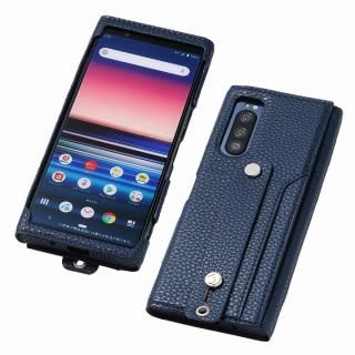 clings Slim Hand Strap Case for Xperia 5 ネイビー
