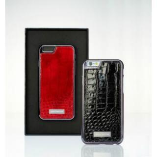 【iPhone6ケース】クロコダイル風 高級本革ケース レッド iPhone 6_1