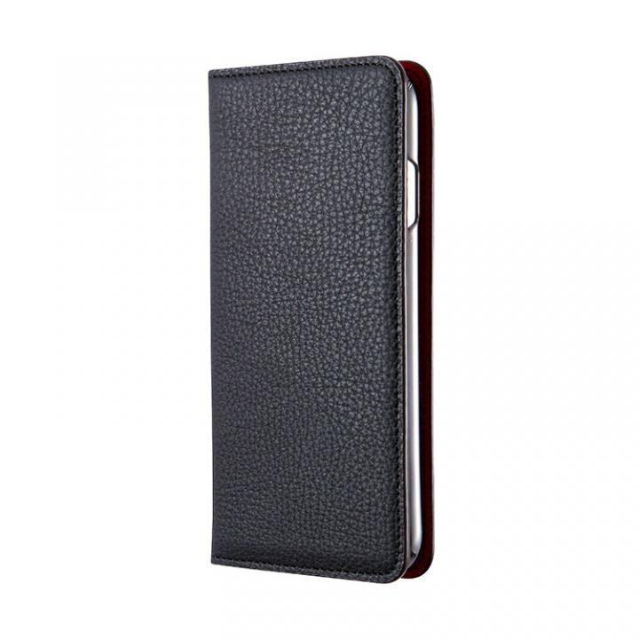 iPhone7 ケース BONAVENTURA German Togo 手帳型レザーケース ブラック/レッド iPhone 7_0