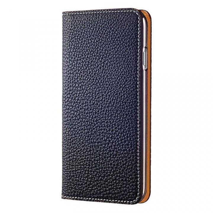【iPhone7ケース】BONAVENTURA German Togo 手帳型レザーケース ネイビー/オレンジ iPhone 7_0