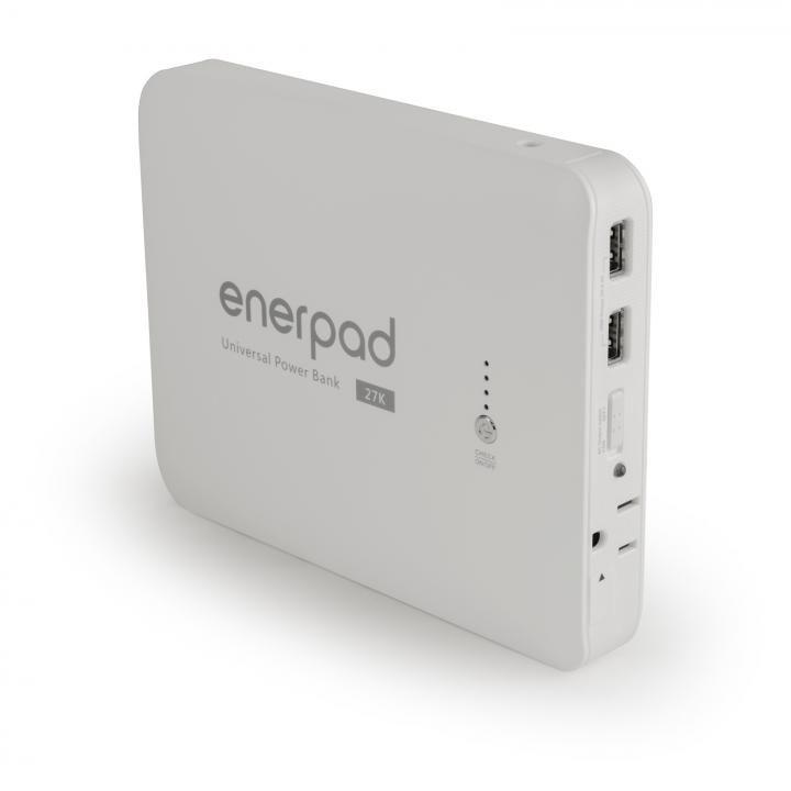 [27000mAh]大容量モバイルバッテリー AC出力ポート enerpad AC-27K ホワイト