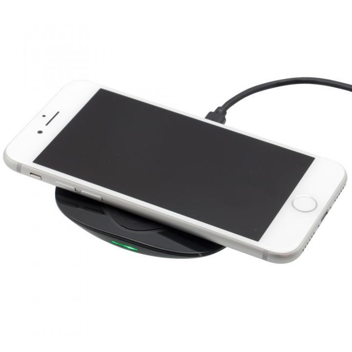 QC2.0対応 スマホとiPhoneを置くだけで急速充電  Qi ワイヤレス充電器 ブラック