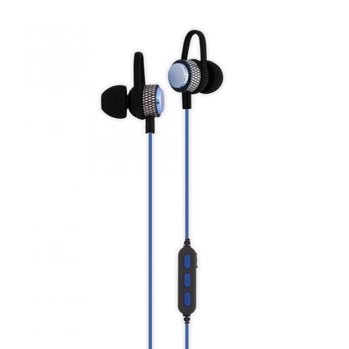 Bluetooth4.2 IPX4準拠 マグネット付き インナーイヤータイプ 防水ワイヤレスイヤホン ブルー_0