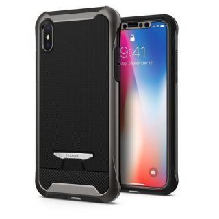 【iPhone Xケース】Spigen レヴェントン ガンメタル iPhone X