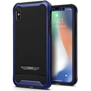【iPhone Xケース】Spigen レヴェントン メタリックブルー iPhone X