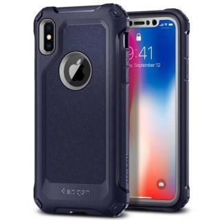 Spigen プロガード ミッドナイトブルー iPhone X