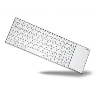 Rapoo  E2710 タッチパッドで左右クリック可能 省スペースデザインのコンパクトマルチキーボード ホワイト【10月下旬】