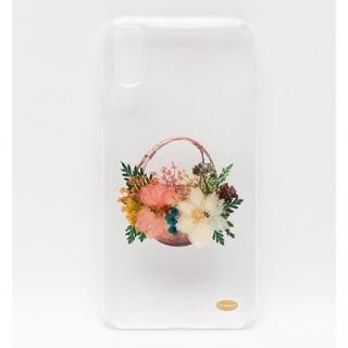 iPhone X ケース ONLY ONE 真花ケース Flower Basket iPhone X