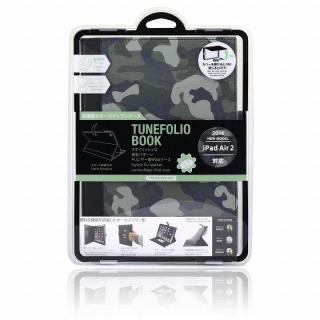 TUNEWEAR TUNEFOLIO PU手帳型ケース カモフラージュグリーン iPad Air 2_8