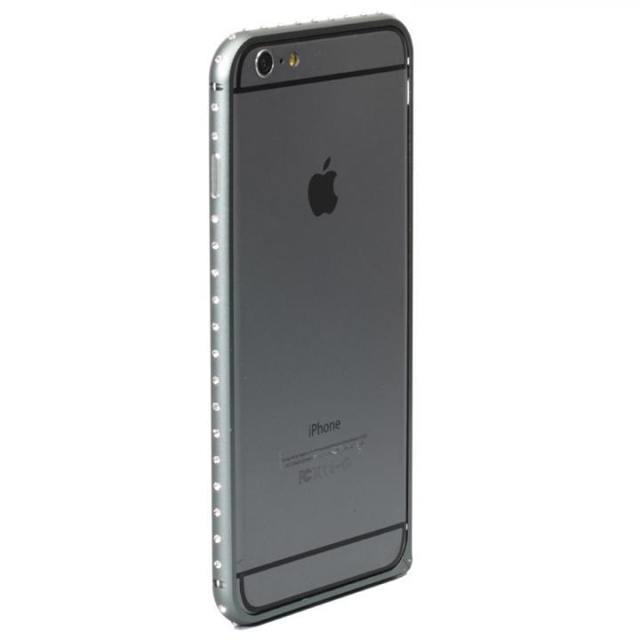 クリスタルを埋め込んだアルミバンパー truffol Crystal Air スペースグレイ iPhone 6 Plus