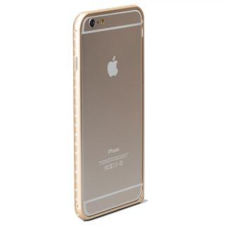 【2月上旬】クリスタルを埋め込んだアルミバンパー truffol Crystal Air ゴールド iPhone 6 Plus