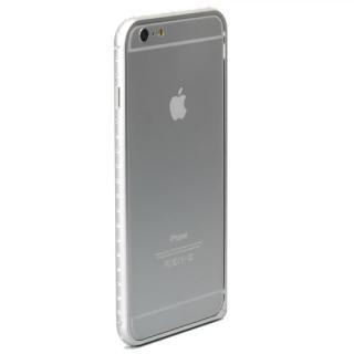 クリスタルを埋め込んだアルミバンパー truffol Crystal Air シルバー iPhone 6 Plus