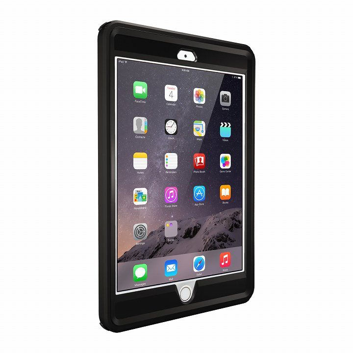 Touch ID対応 耐衝撃ケース OtterBox Defender ブラック iPad mini/2/3