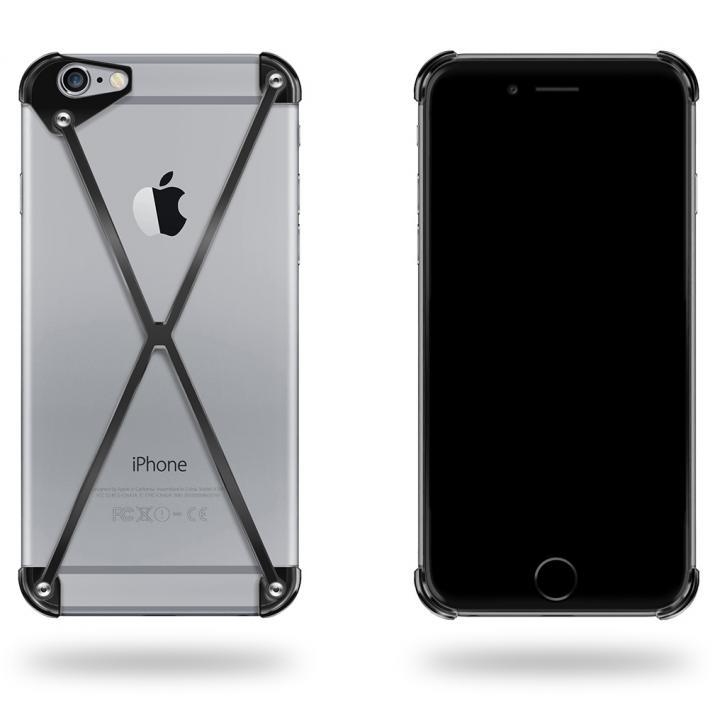 端末の美しさを活かすバンパー RADIUS ブラック iPhone 6 Plus