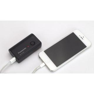 [2700mAh]パナソニック製モバイル・バッテリー 無接点充電Qi対応 ブラック_4