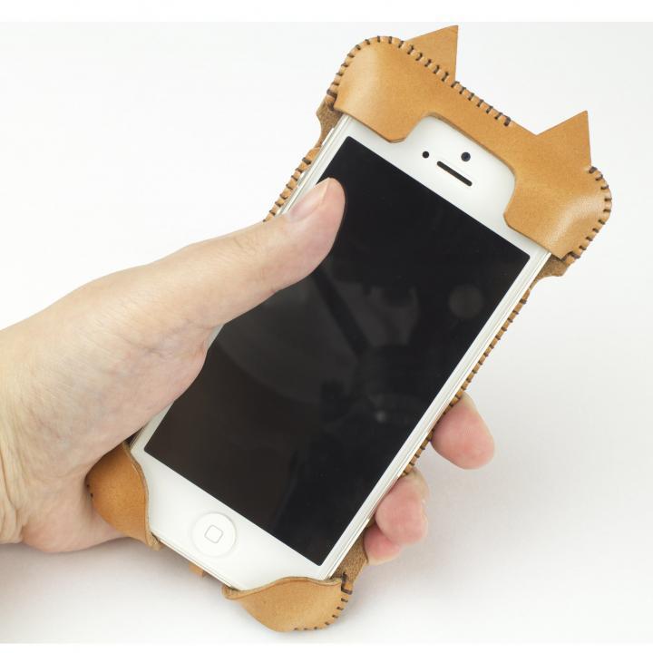 【iPhone SE/5s/5ケース】abicase ネコ型 iPhone 5/5s/5cケース cawa wallet jacket (飴色)_0