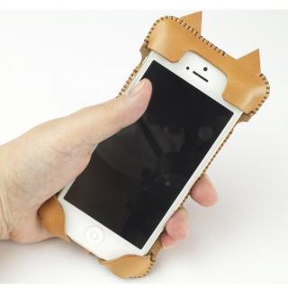 【iPhone SE/その他の/iPodケース】abicase ネコ型 iPhone 5/5s/5cケース cawa wallet jacket (飴色)