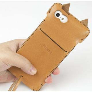【iPhone SE/5s/5ケース】abicase ネコ型 iPhone 5/5s/5cケース cawa wallet jacket (飴色)_1