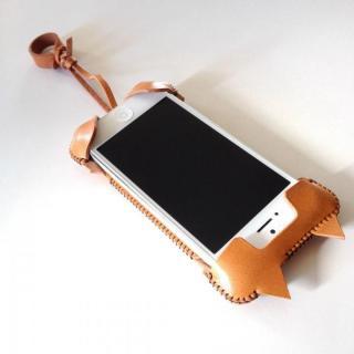 【iPhone SE/5s/5ケース】abicase ネコ型 iPhone 5/5s/5cケース cawa wallet jacket (飴色)_2