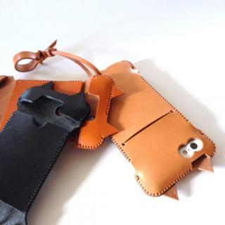 【iPhone SE/5s/5ケース】abicase ネコ型 iPhone 5/5s/5cケース cawa wallet jacket (飴色)_3