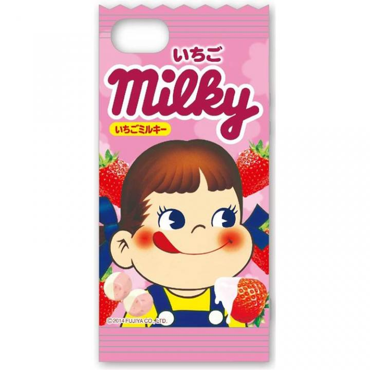 ミルキー iPhone5/5s対応 ダイカットキャラクタージャケット いちご