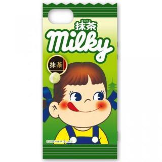 ミルキー iPhone5/5s対応 ダイカットキャラクタージャケット 抹茶