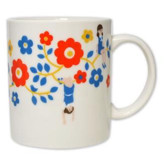 コップのフチ子 マグカップ(北欧フラワー柄)