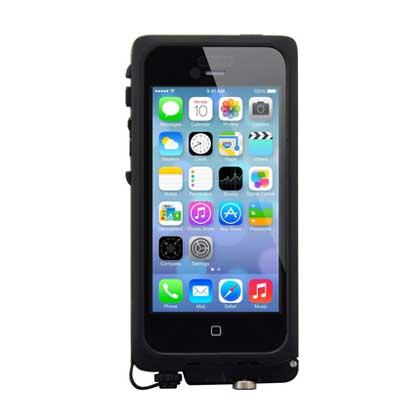 【iPhone SE/5s/5ケース】aXtion Pro  iPhone SE/5s/5 防水ケース (Black/Dark Gray)_0