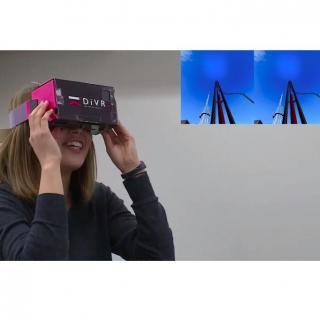 スマホで3DバーチャルVR体験 DiVR VRゴーグル ブラック3D