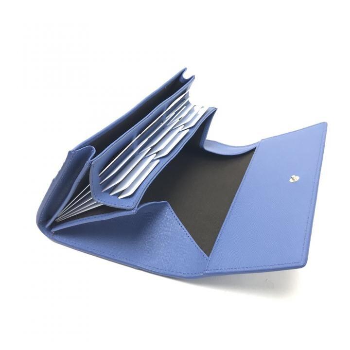 carcru(カルクル) ポップアップウォレット かぶせ長財布 ブルー_0