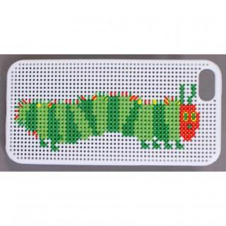 【iPhone SE/5s/5ケース】刺しゅうができるステッチケース エリック・カール はらぺこあおむし ホワイト iPhone SE/5s/5