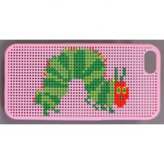 iPhone SE/5s/5 ケース 刺しゅうができるステッチケース エリック・カール はらぺこあおむし ピンク iPhone SE/5s/5