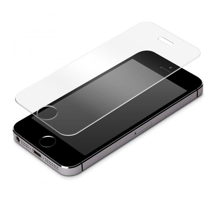 iPhone SE/5s/5c/5専用 液晶保護強化ガラス スーパークリア