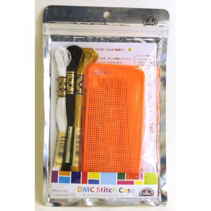 iPhone SE/5s/5 ケース 刺しゅうができるステッチケース Orange iPhone SE/5s/5ケース_0
