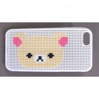 刺しゅうができるステッチケース iPhone SE/5s/5 リラックマ White