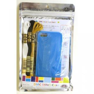 【iPhone SE/5s/5ケース】刺しゅうができるステッチケース Blue iPhone SE/5s/5ケース