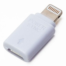 Power/Sync Adapter Lightning - microUSB ホワイト