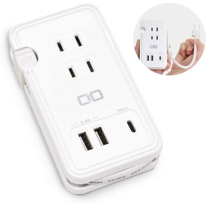 電源タップ USB-C PD 急速充電器 USB コンセント Type-C USBポート_0