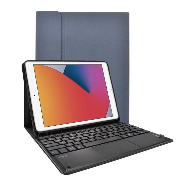 iPad ケース キーボード付きケース US配列 スマートキーボード ブルー_0