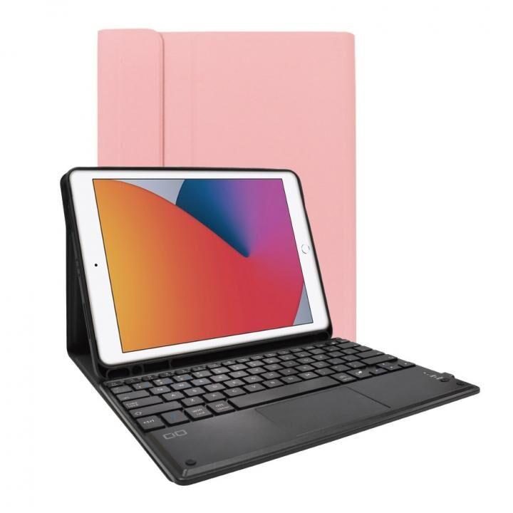 iPad ケース キーボード付きケース US配列 スマートキーボード ローズゴールド_0