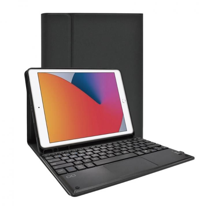 iPad ケース キーボード付きケース US配列 スマートキーボード ブラック_0